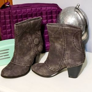 Not rated size 7.5 gray ankle boots